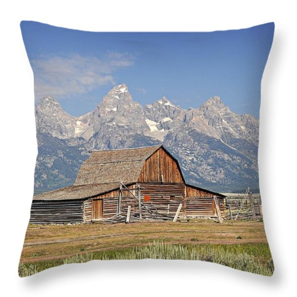 Mormon Barn 2 Throw Pillow by Marty Koch