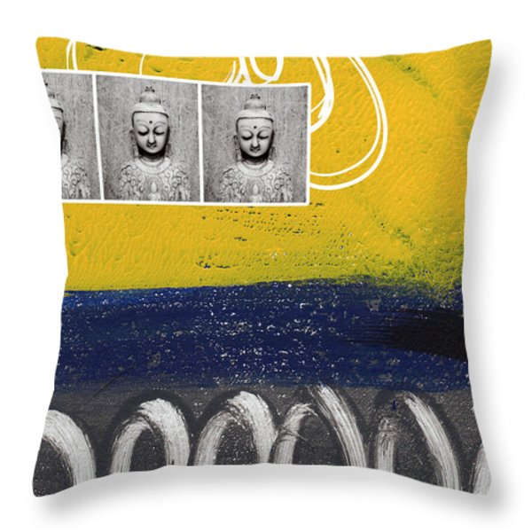 Morning Buddha Throw Pillow by Linda Woods