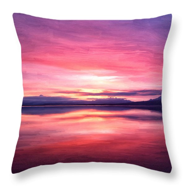 Morning Dawn Throw Pillow by Michael Pickett