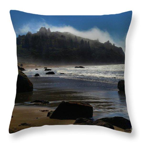 Morning Fog Burn Throw Pillow by Adam Jewell