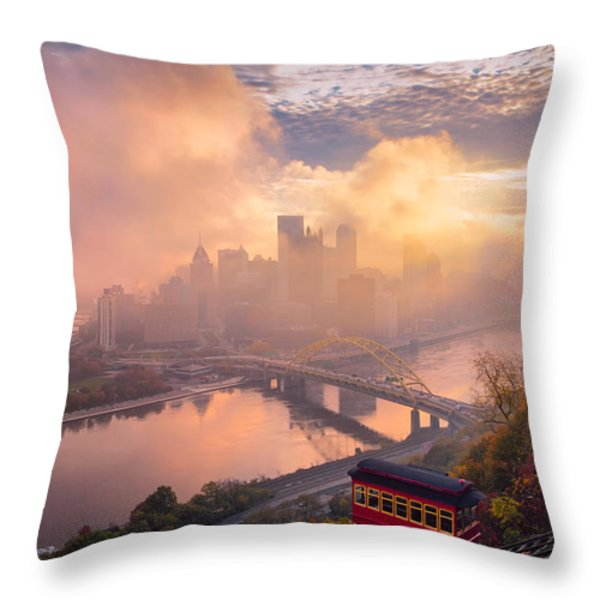 Morning Fog  Throw Pillow by Emmanuel Panagiotakis