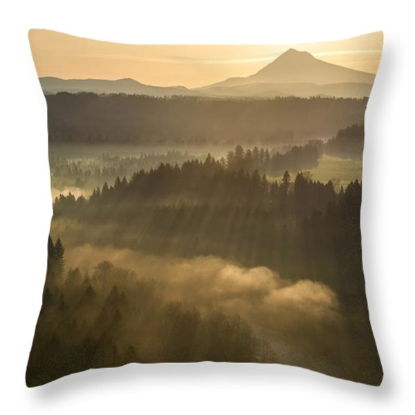 Morning Has Broken Throw Pillow by Lori Grimmett