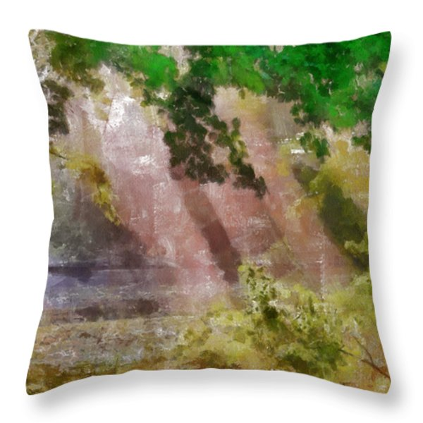 Morning In The Park Throw Pillow by Georgi Dimitrov