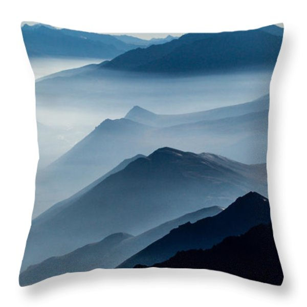 Morning Mist Throw Pillow by Chad Dutson