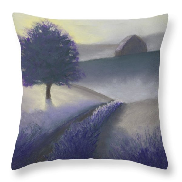 Morning Mist Throw Pillow by Garry McMichael