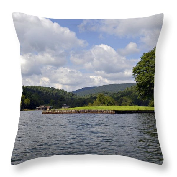 Morning On The Lake Throw Pillow by Susan Leggett