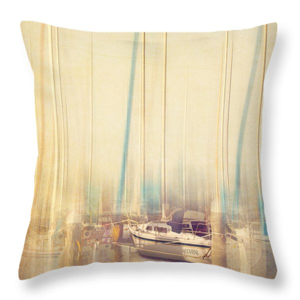 Morning Sail Throw Pillow by Amy Weiss