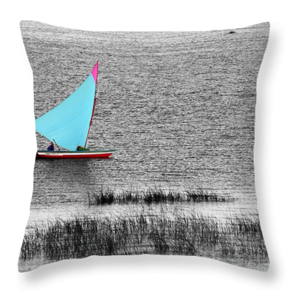 Morning Sail Throw Pillow by James Brunker