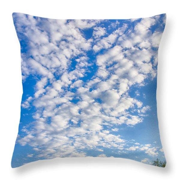 Morning Sky Throw Pillow by Judi FitzPatrick