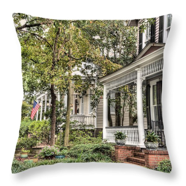 Morning Stroll Throw Pillow by JC Findley