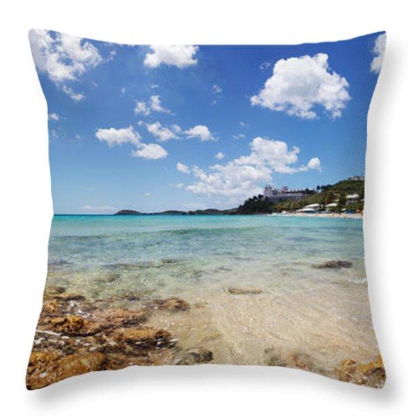 Morningstar Beach Throw Pillow by Jo Ann Snover