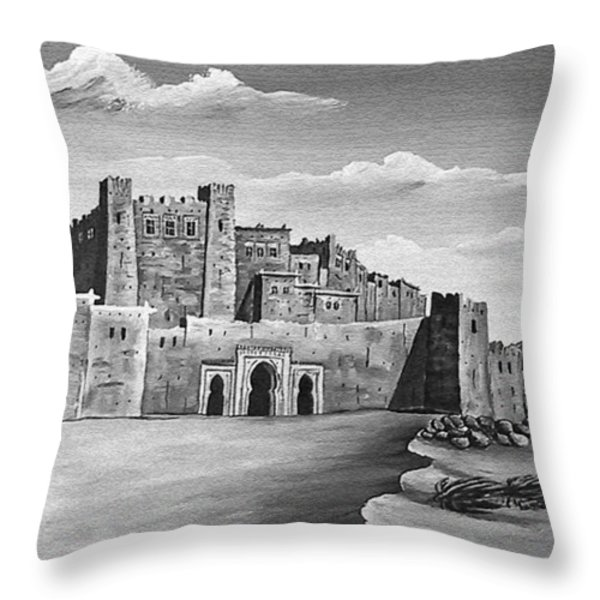 Morocco - Land of contrast Throw Pillow by Christine Till