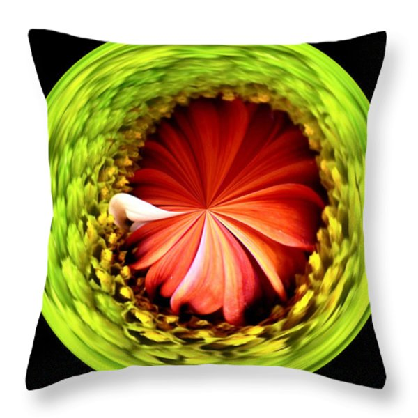 Morphed Art Globe 1 Throw Pillow by Rhonda Barrett