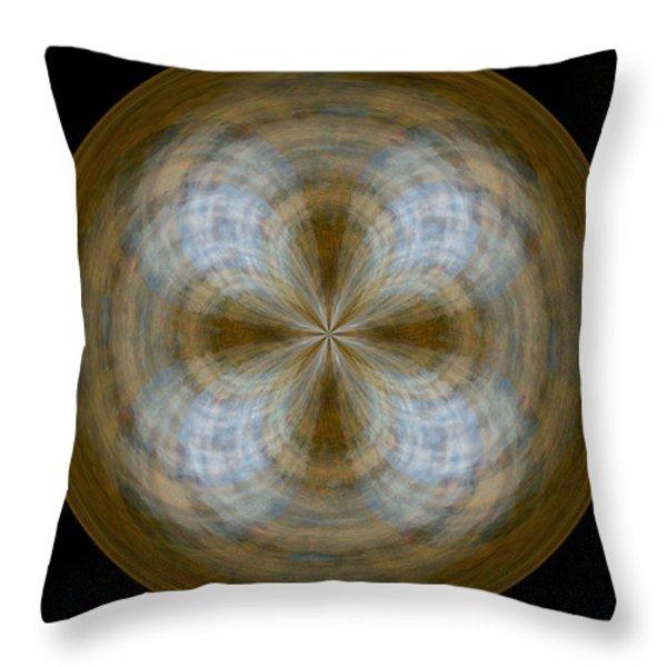 Morphed Art Globe 24 Throw Pillow by Rhonda Barrett