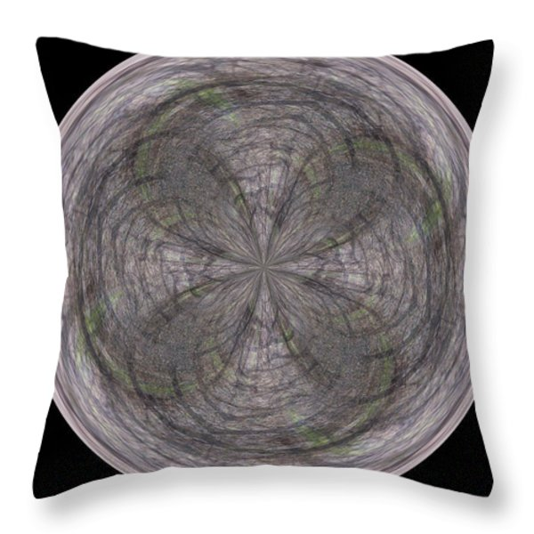 Morphed Art Globe 26 Throw Pillow by Rhonda Barrett