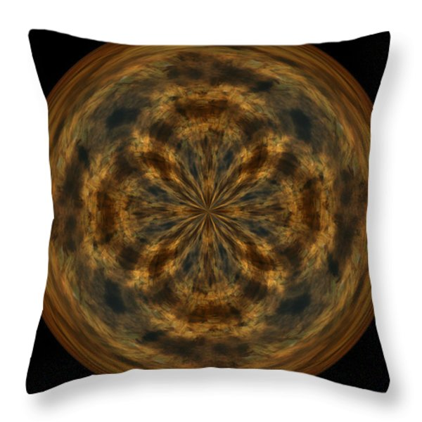 Morphed Art Globe 29 Throw Pillow by Rhonda Barrett