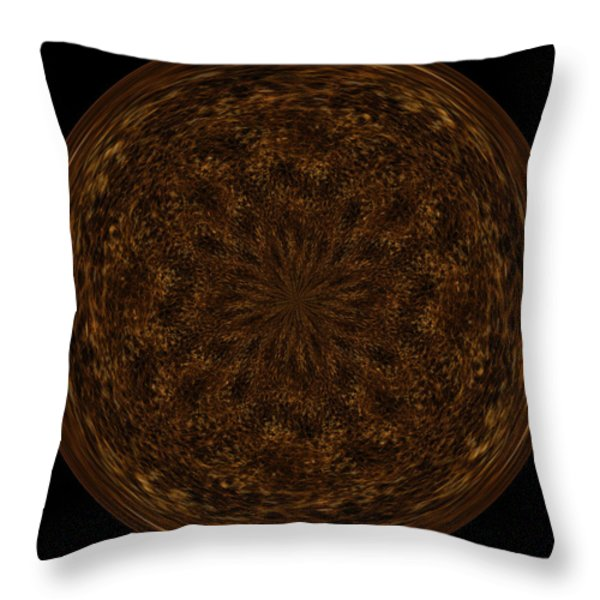 Morphed Art Globe 32 Throw Pillow by Rhonda Barrett