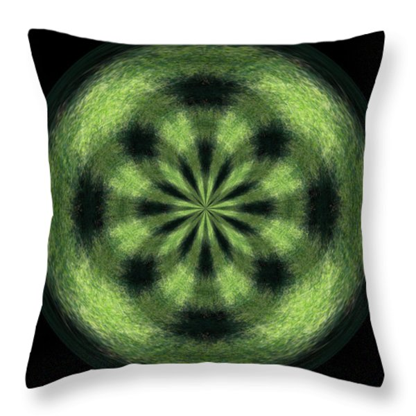 Morphed Art Globe 35 Throw Pillow by Rhonda Barrett