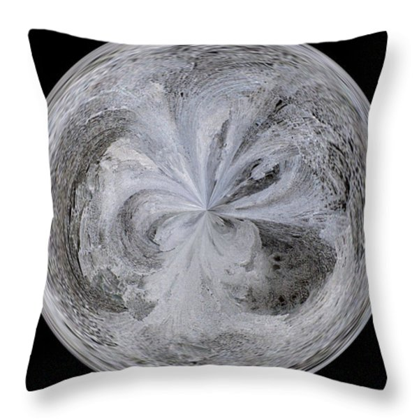 Morphed Art Globe 4 Throw Pillow by Rhonda Barrett