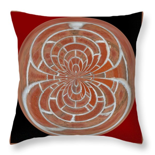 Morphed Art Globes 17 Throw Pillow by Rhonda Barrett