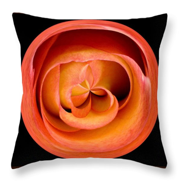 Morphed Art Globes 20 Throw Pillow by Rhonda Barrett