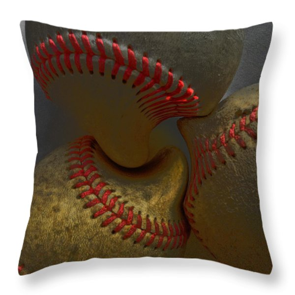 Morphing Baseballs Throw Pillow by Bill Owen
