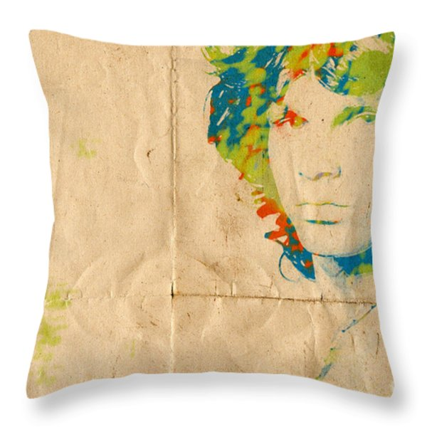 Morrison Watercolor Splash Throw Pillow by Paulette B Wright