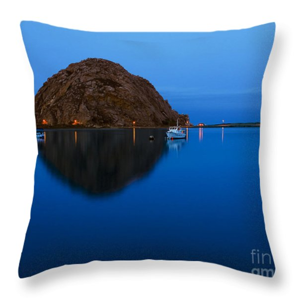 Morro Bay Calm Morning Throw Pillow by Terry Garvin