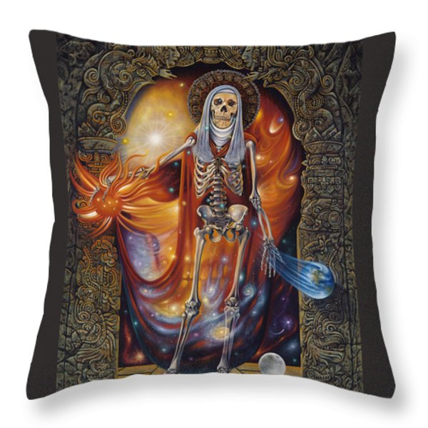 Mors Santi Throw Pillow by Ricardo Chavez-Mendez