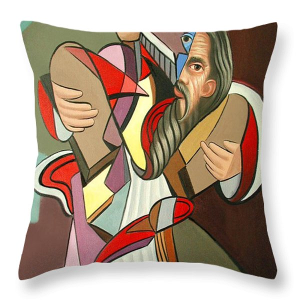 Moses Throw Pillow by Anthony Falbo