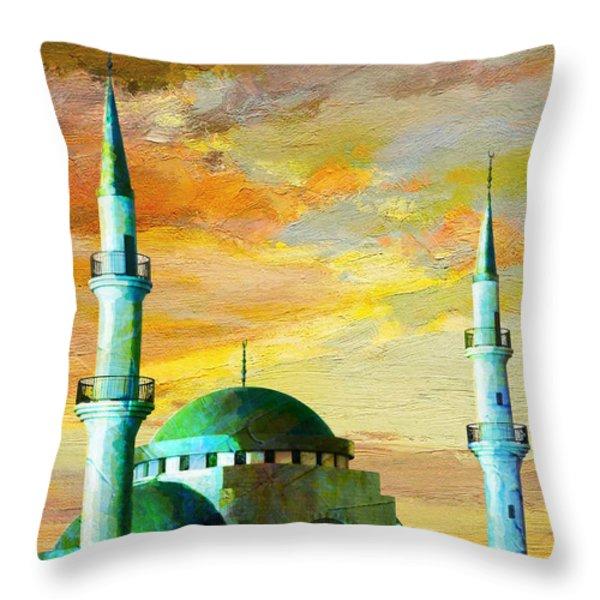 Mosque Jordan Throw Pillow by Catf