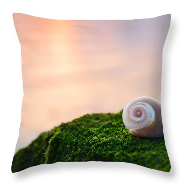 by the sea Throw Pillow by Laura  Fasulo
