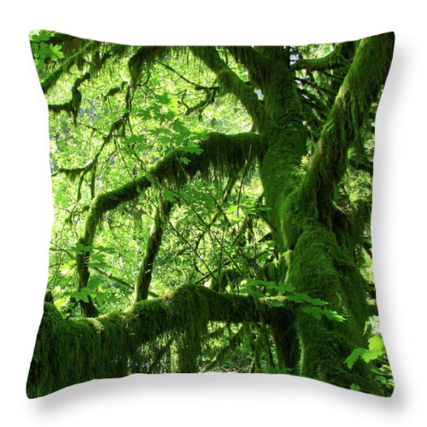 Mossy Tree Throw Pillow by Athena Mckinzie