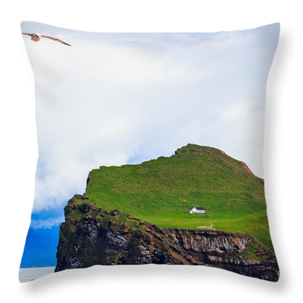 Most Peaceful House In The World Throw Pillow by Peta Thames