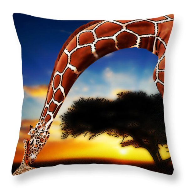 Mother And Child Throw Pillow by Jack Zulli