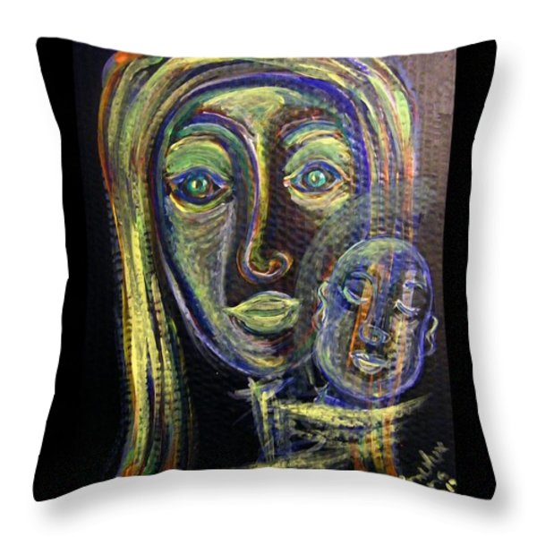 Mother And Child Throw Pillow by Mimulux patricia no