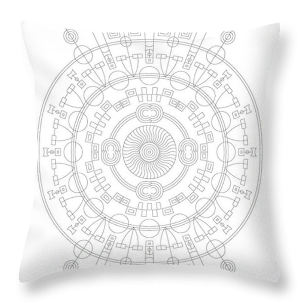 Mother Throw Pillow by DB Artist