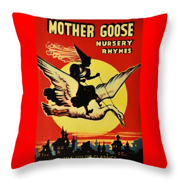Mother Goose Throw Pillow by Bill Cannon