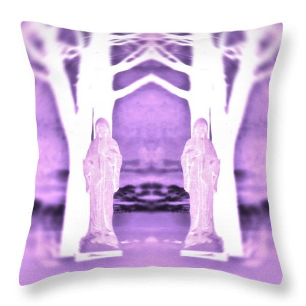 Mother Mary Protect Us Throw Pillow by Dan Sproul
