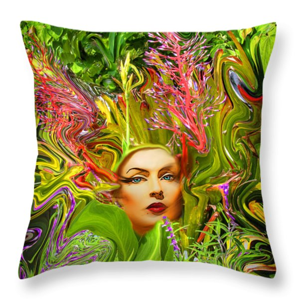 Mother Nature Throw Pillow by Chuck Staley