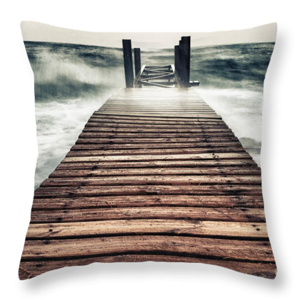 Mother Nature Throw Pillow by Stylianos Kleanthous