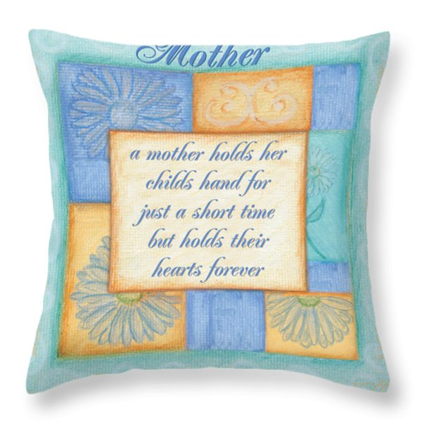Mother's Day Spa Card Throw Pillow by Debbie DeWitt