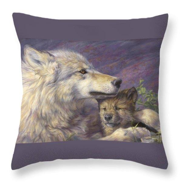 Mother's Love Throw Pillow by Lucie Bilodeau