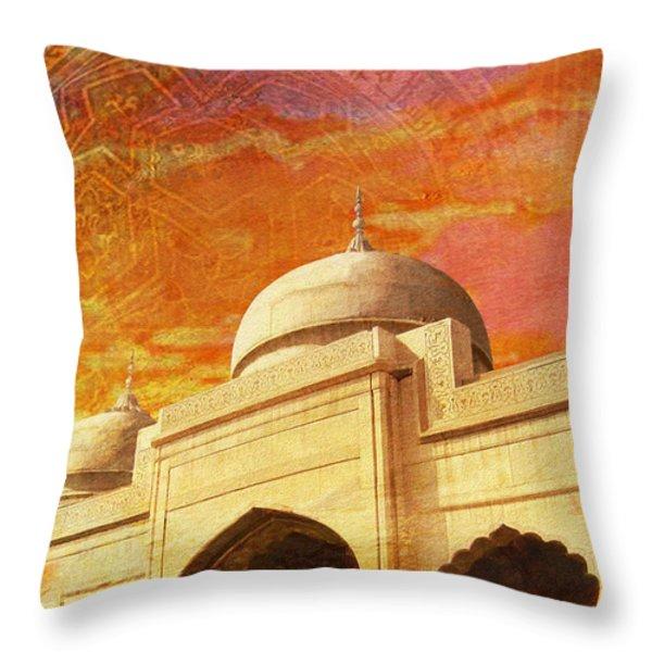 Moti Masjid Throw Pillow by Catf