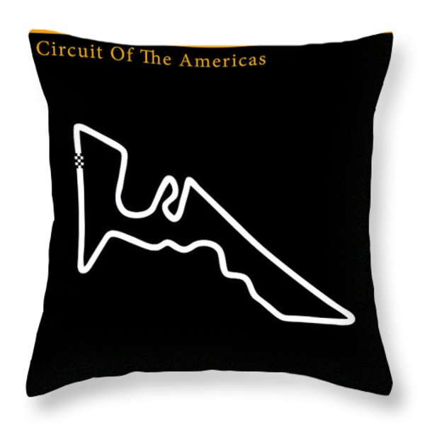 Moto GP of the Americas Throw Pillow by Mark Rogan