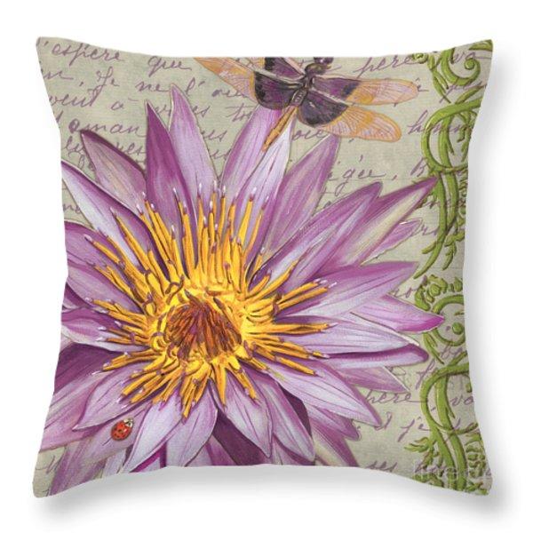 Moulin Floral 1 Throw Pillow by Debbie DeWitt