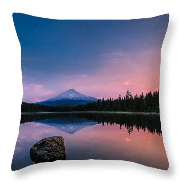 Mount Hood Magic Throw Pillow by Dan Mihai