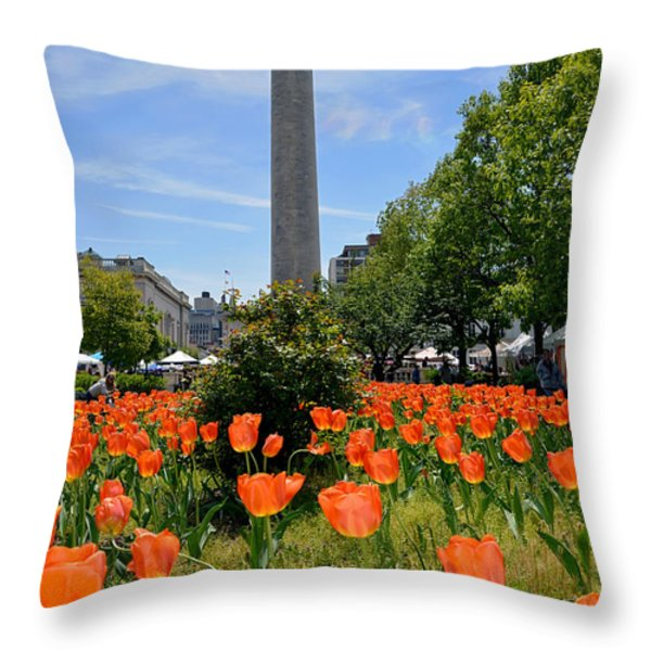 Mount Vernon Place Throw Pillow by Brian Wallace