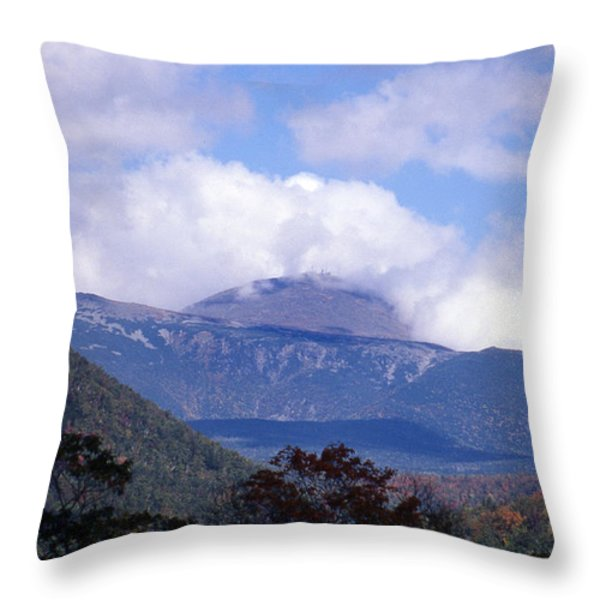 MOUNT WASHINGTON Throw Pillow by Skip Willits