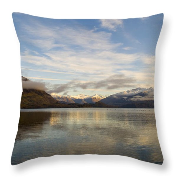Mountain Dawn Throw Pillow by Tim Hester